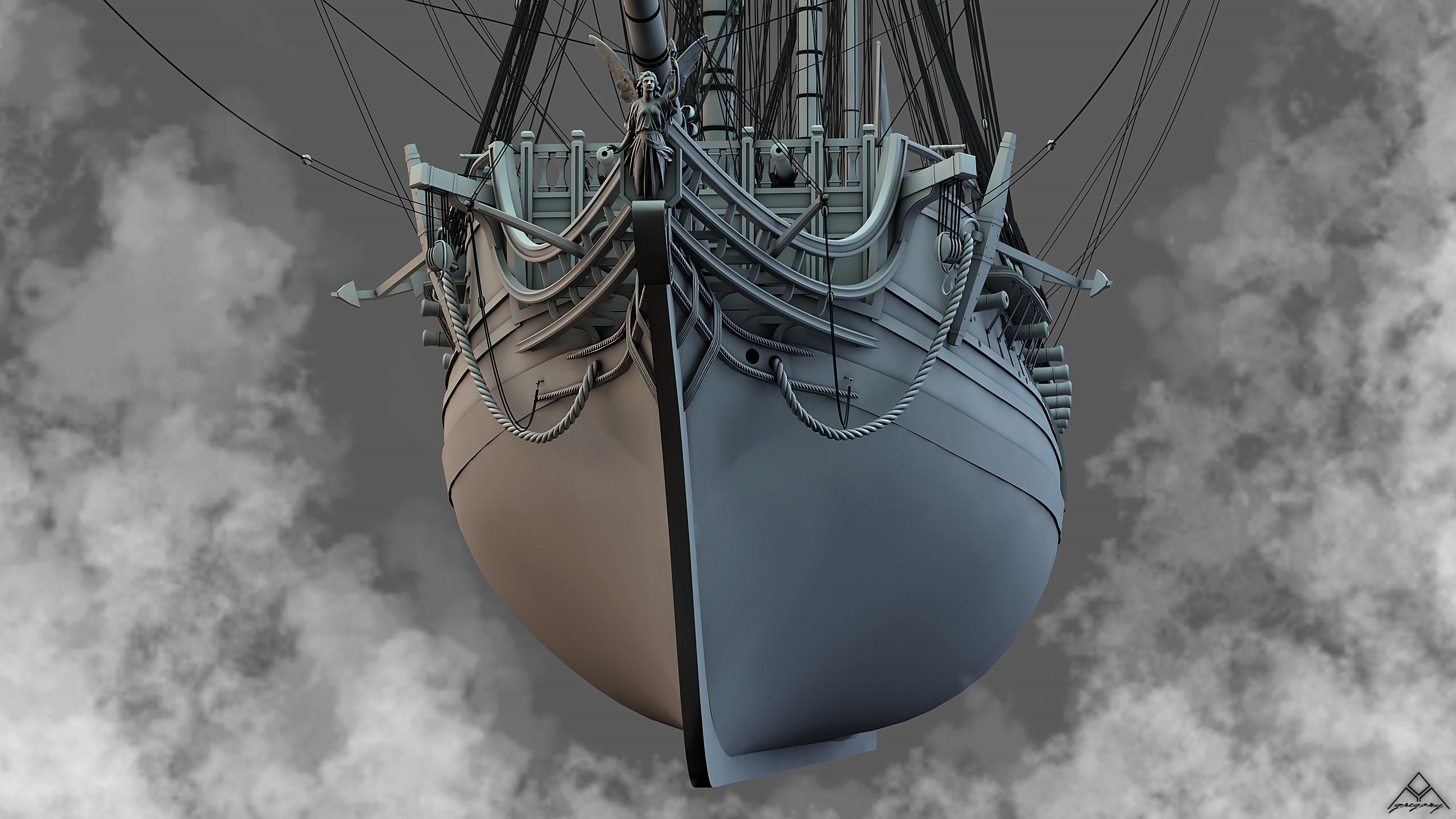 Frégate 36 canons XVIII° [Création 3D] par Greg_3D - Page 9 Frzoga29
