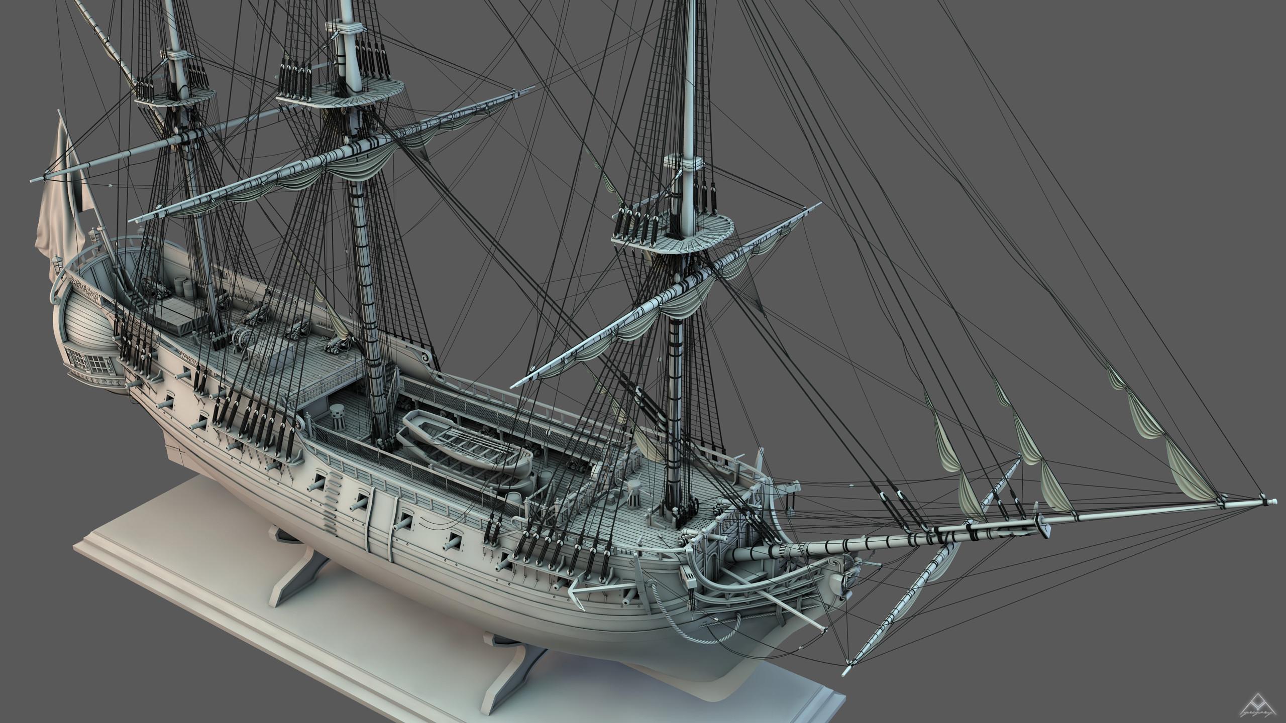 Frégate m'a première réalisation d'un navire en 3D. - Page 10 Frzoga31