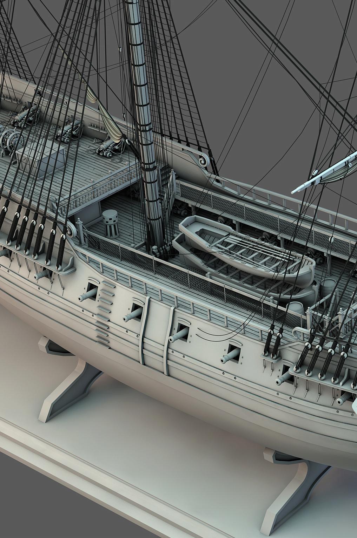 Frégate m'a première réalisation d'un navire en 3D. - Page 10 Frzoga33