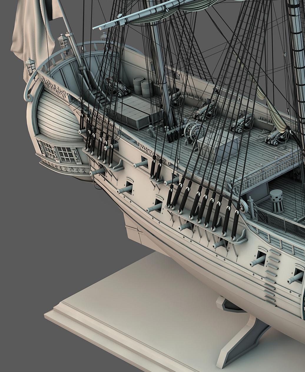 Frégate m'a première réalisation d'un navire en 3D. - Page 10 Frzoga34