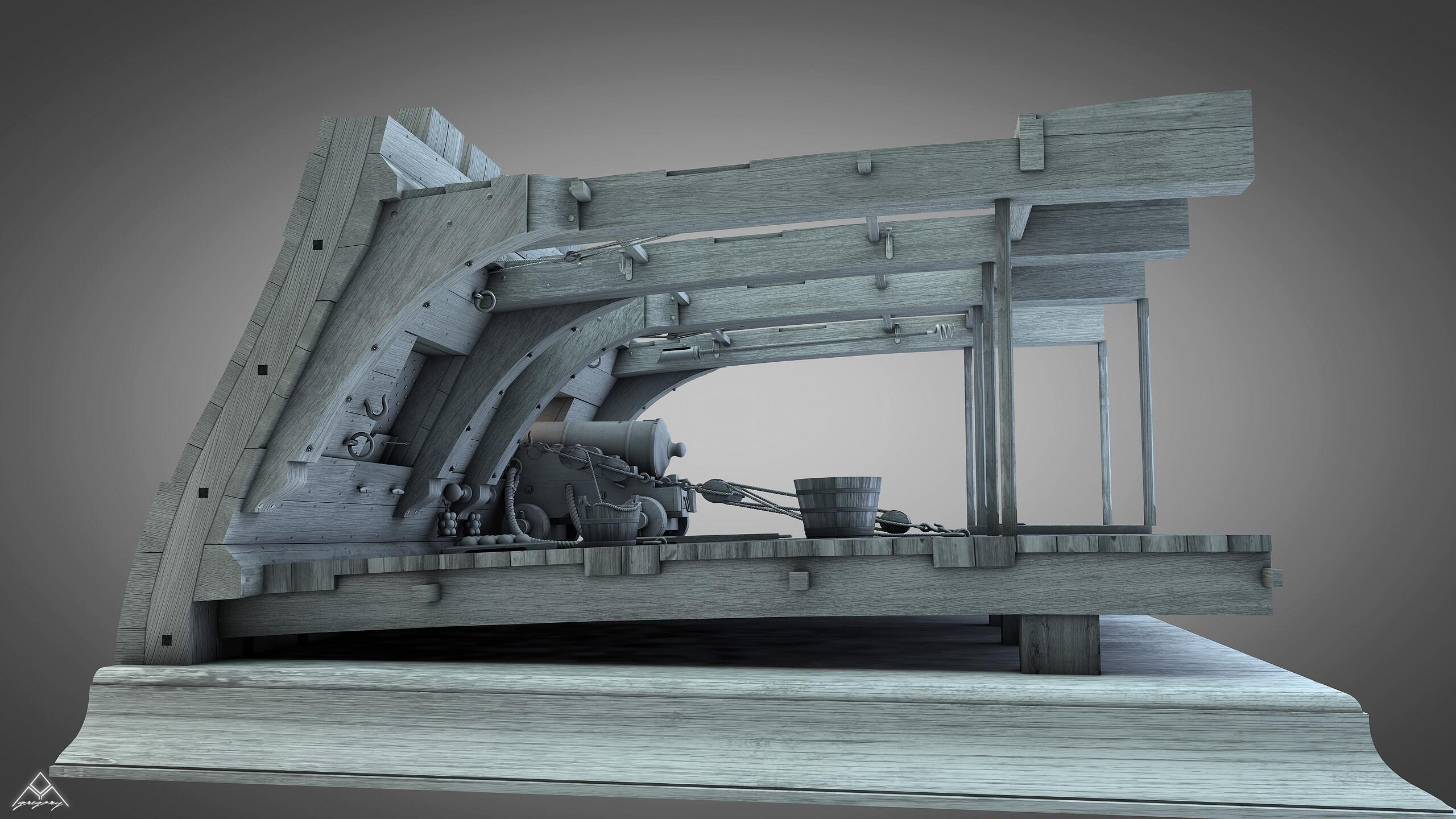 Canons de vaisseau 74 canons (Création 3D) par Greg_3D - Page 9 Gregor53