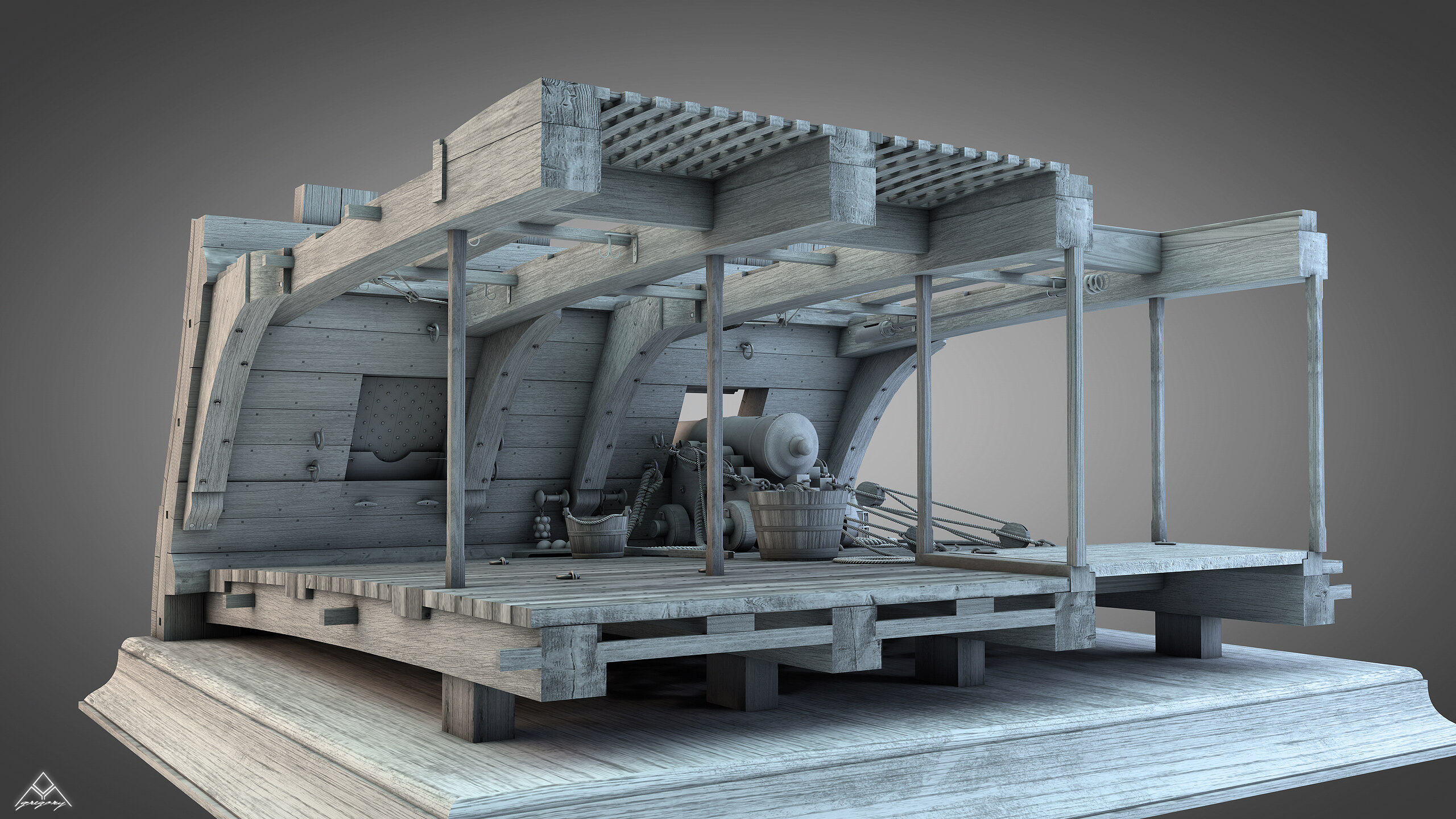 Canons de vaisseau 74 canons (Création 3D) par Greg_3D - Page 9 Gregor54