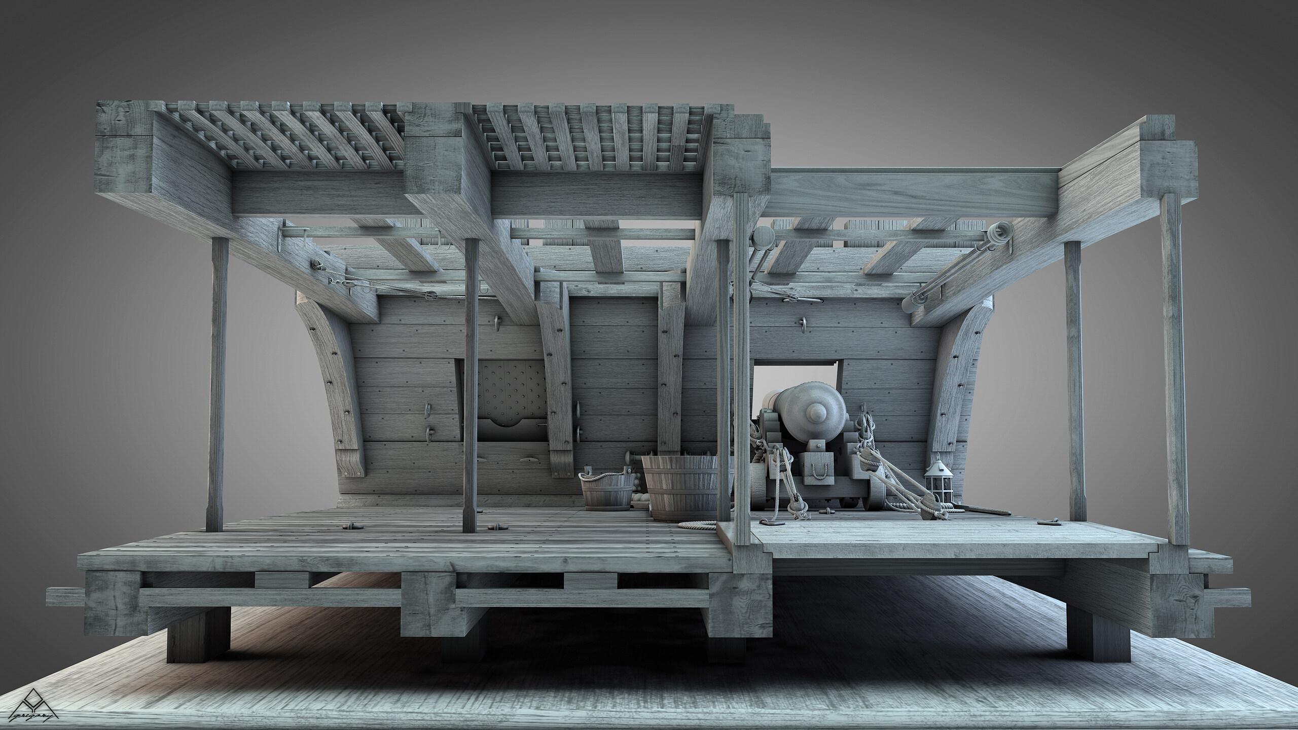 Canons de vaisseau 74 canons (Création 3D) par Greg_3D - Page 9 Gregor56