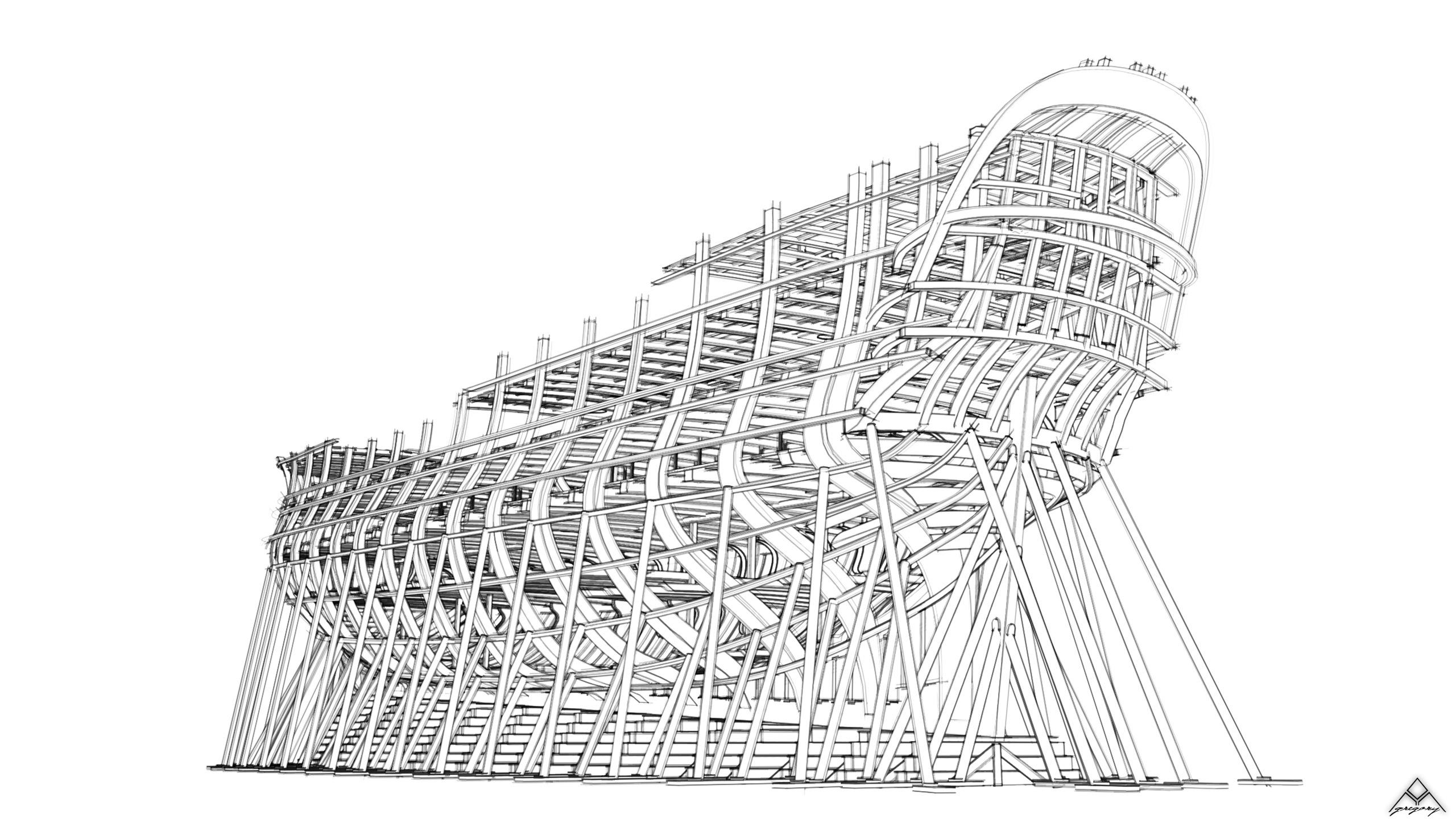 Vaisseau 74 canons Lucide [Création 3D] de Greg_3D - Page 17 Navire15