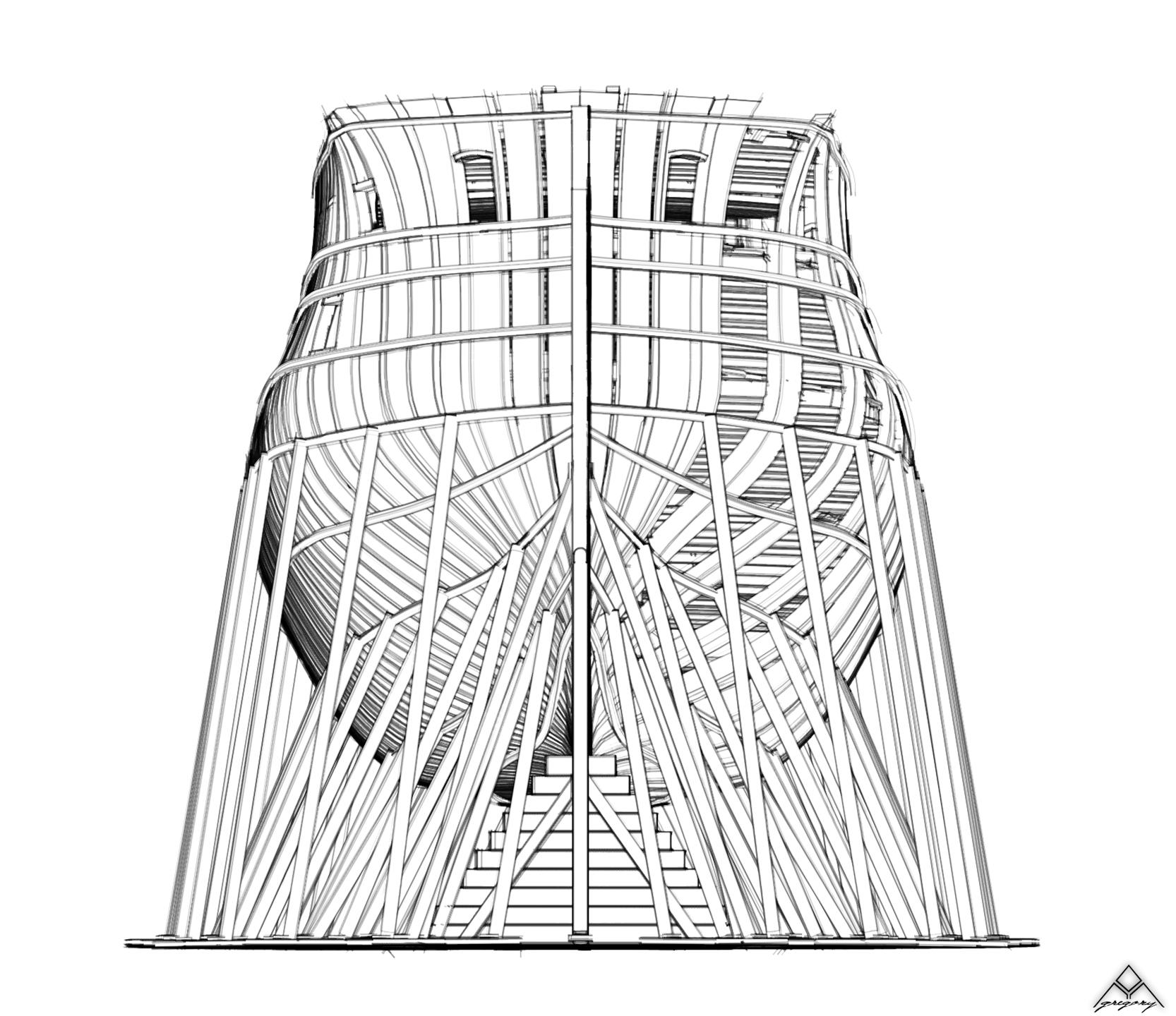 Réalisation d'un vaisseau de 74 canons Navire16