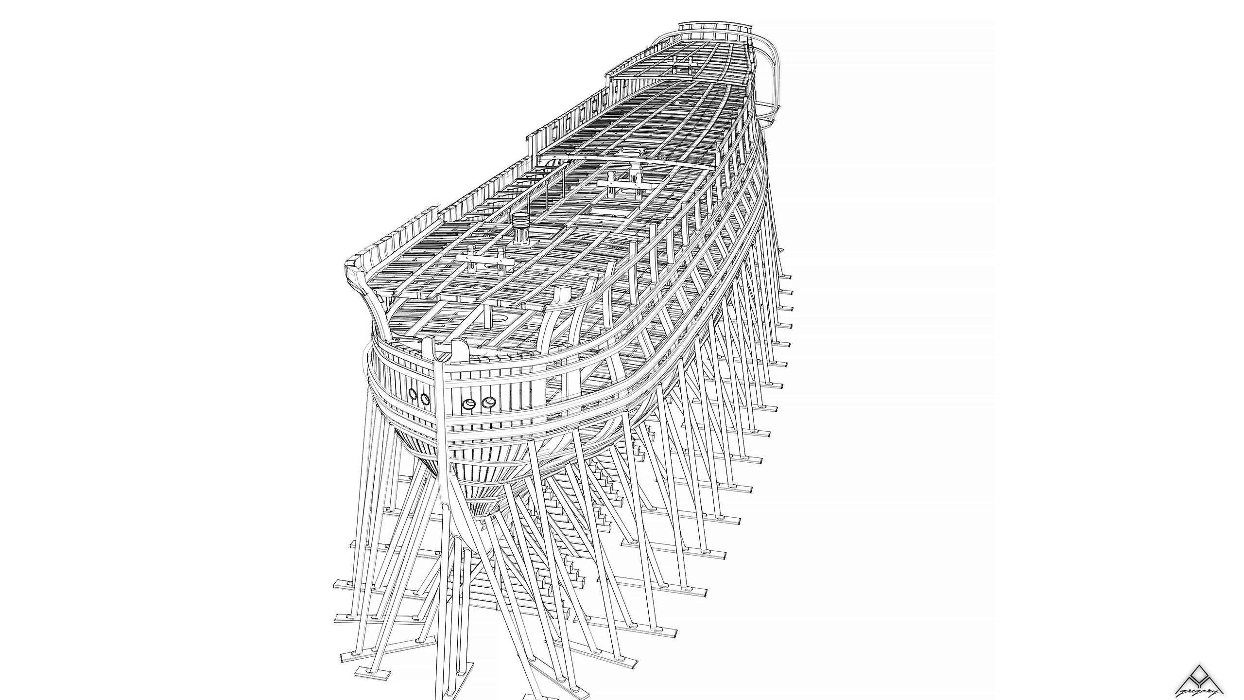 Vaisseau 74 canons Lucide [Création 3D] de Greg_3D - Page 18 Navire26