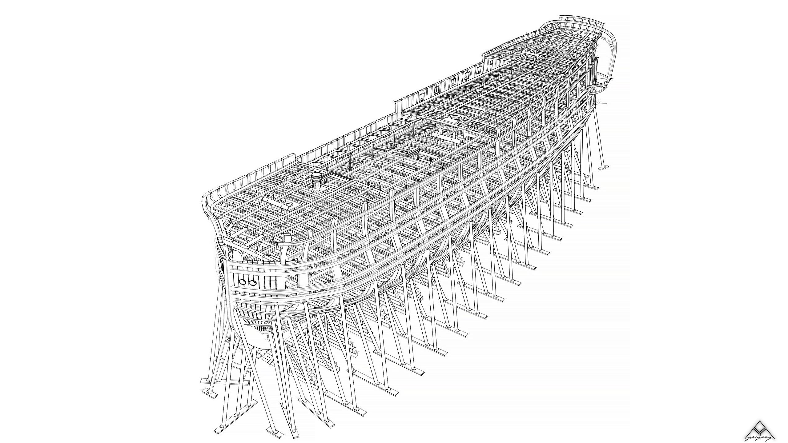 Vaisseau 74 canons Lucide [Création 3D] de Greg_3D - Page 18 Navire27