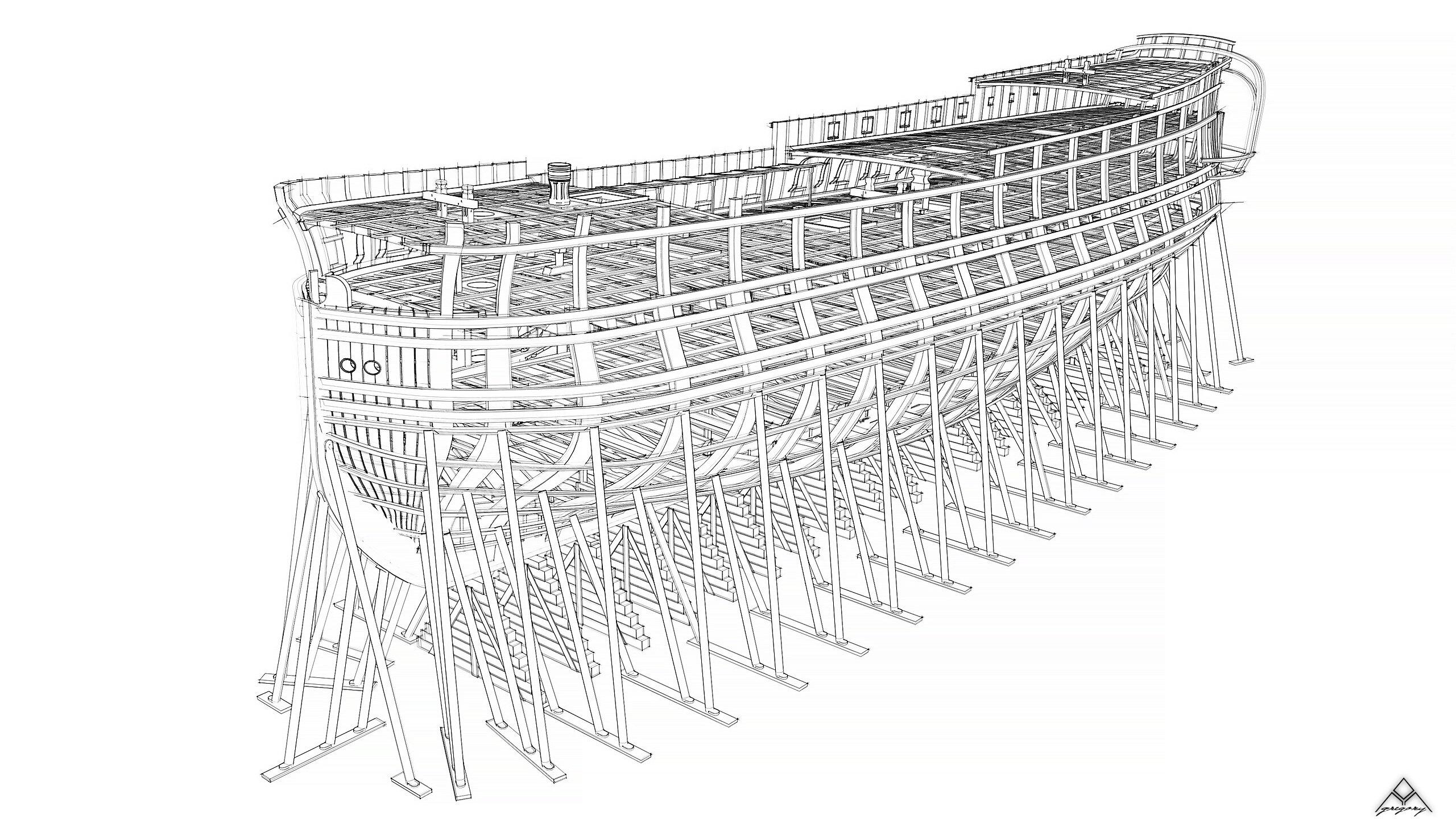 Vaisseau 74 canons Lucide [Création 3D] de Greg_3D - Page 18 Navire28