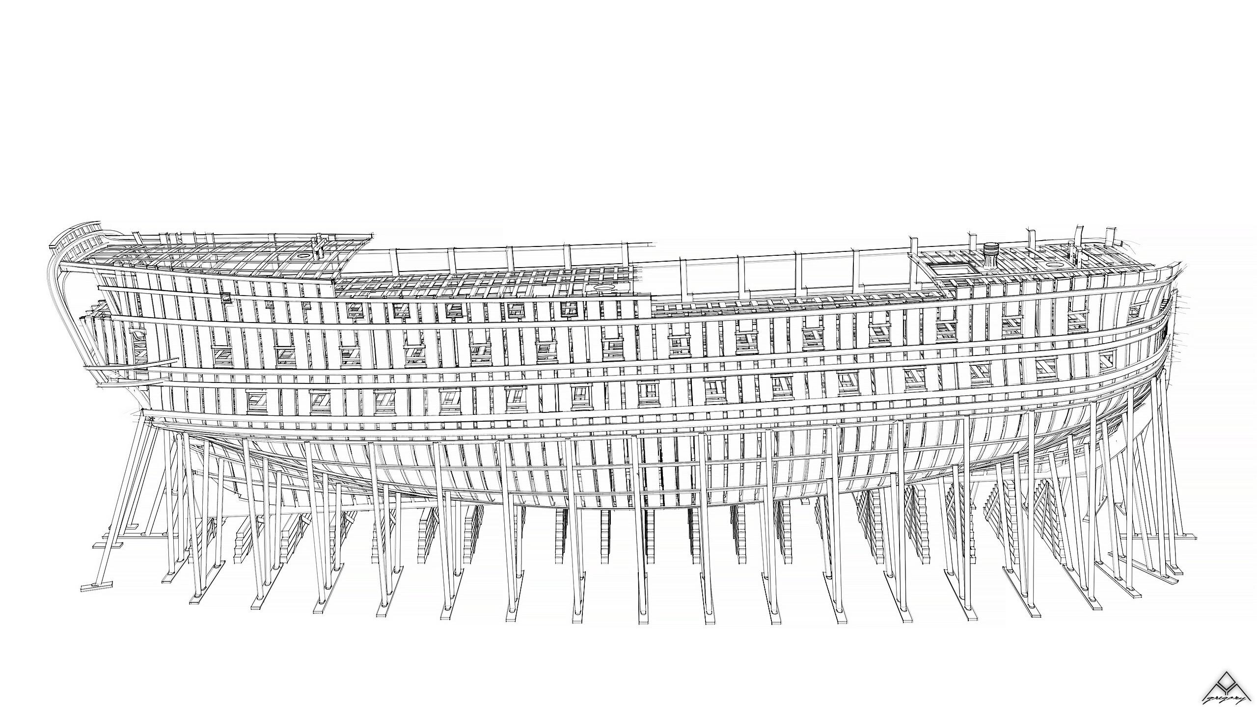 Vaisseau 74 canons Lucide [Création 3D] de Greg_3D - Page 18 Navire32