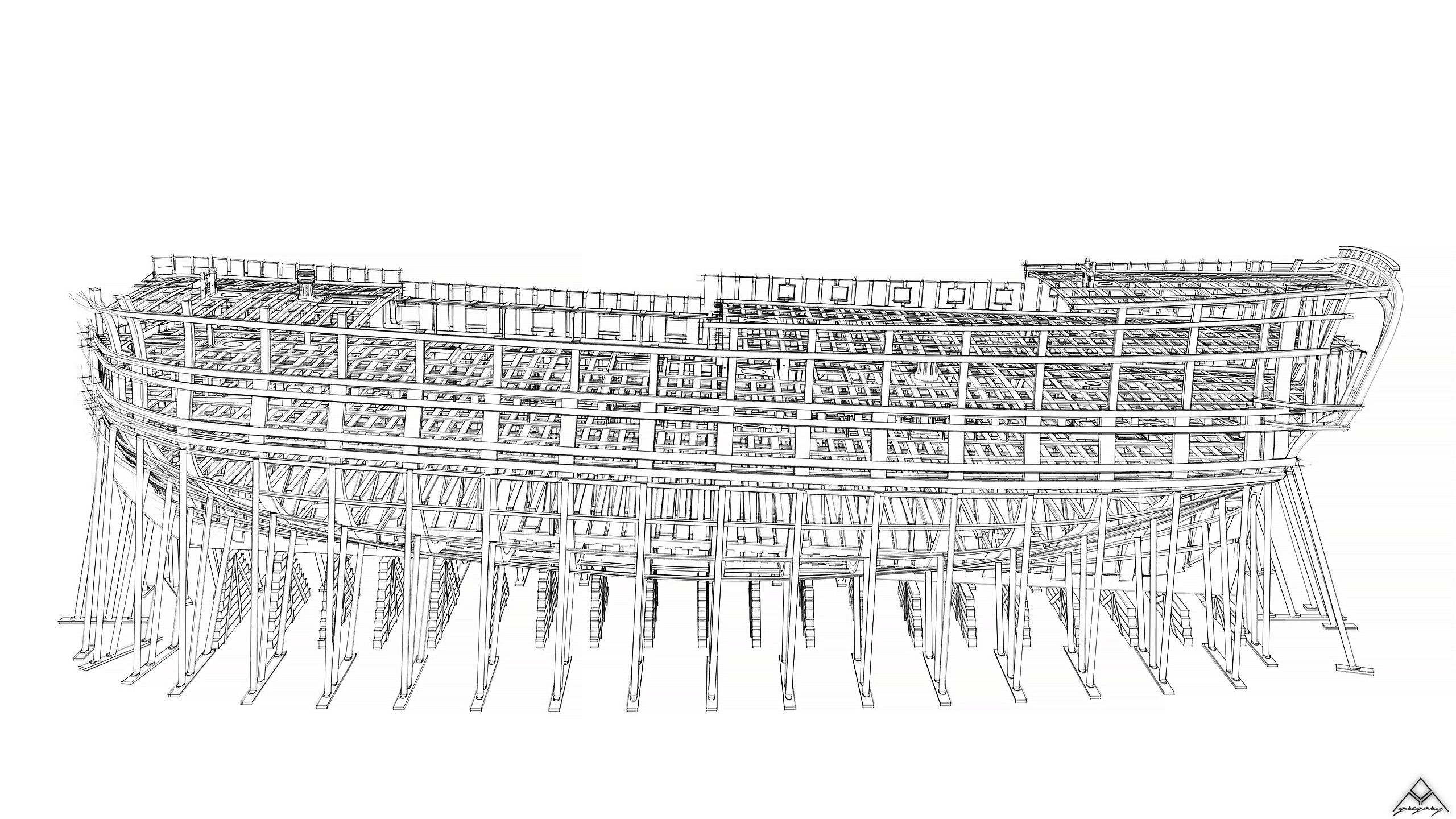 Vaisseau 74 canons Lucide [Création 3D] de Greg_3D - Page 18 Navire33