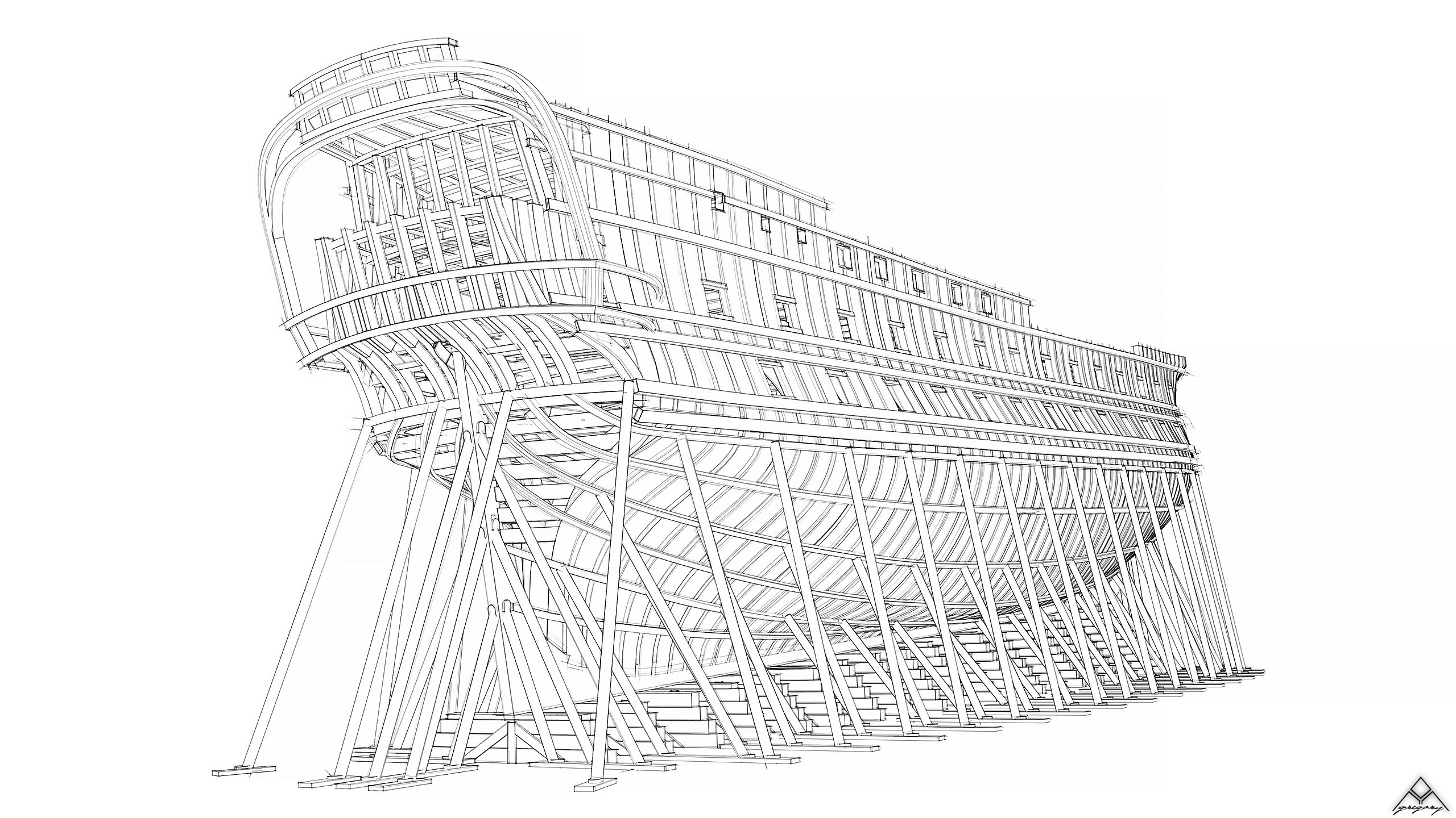 Vaisseau 74 canons Lucide [Création 3D] de Greg_3D - Page 19 Navire36
