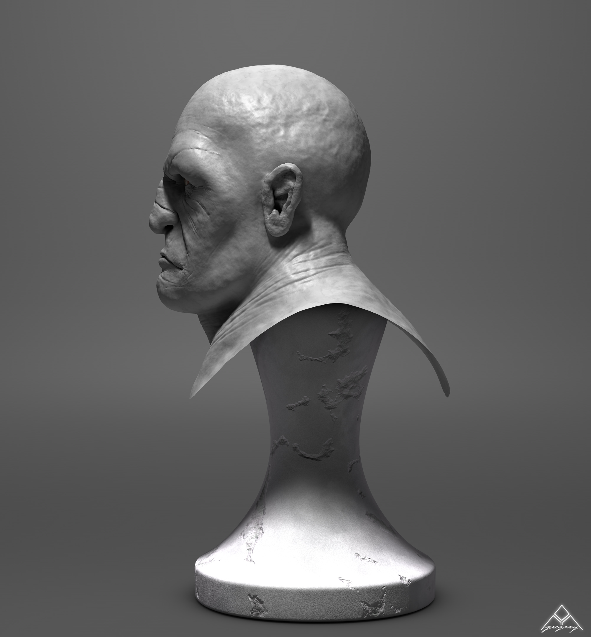 Buste Orc 3D Orc_mo13