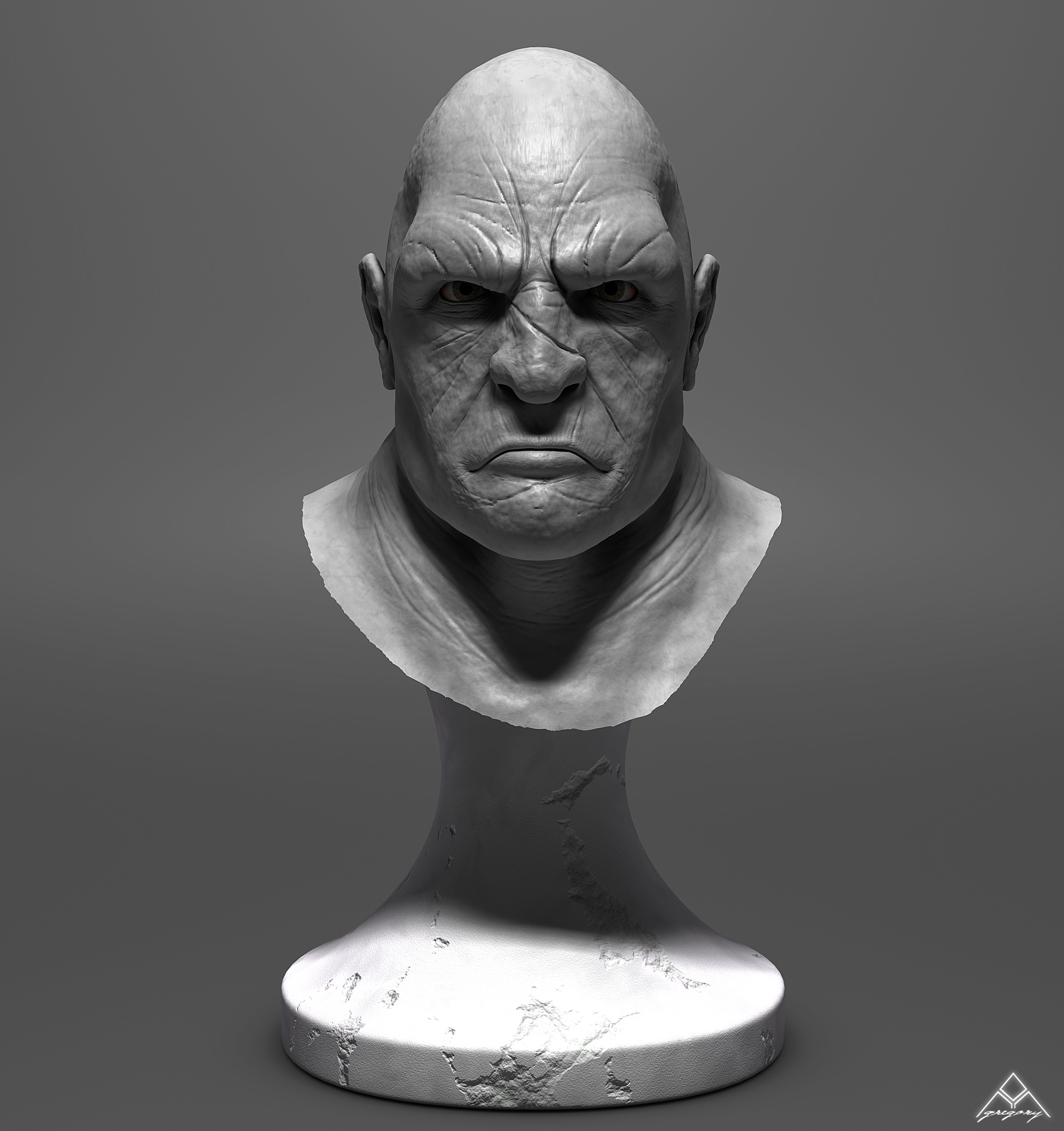 Buste Orc 3D Orc_mo15