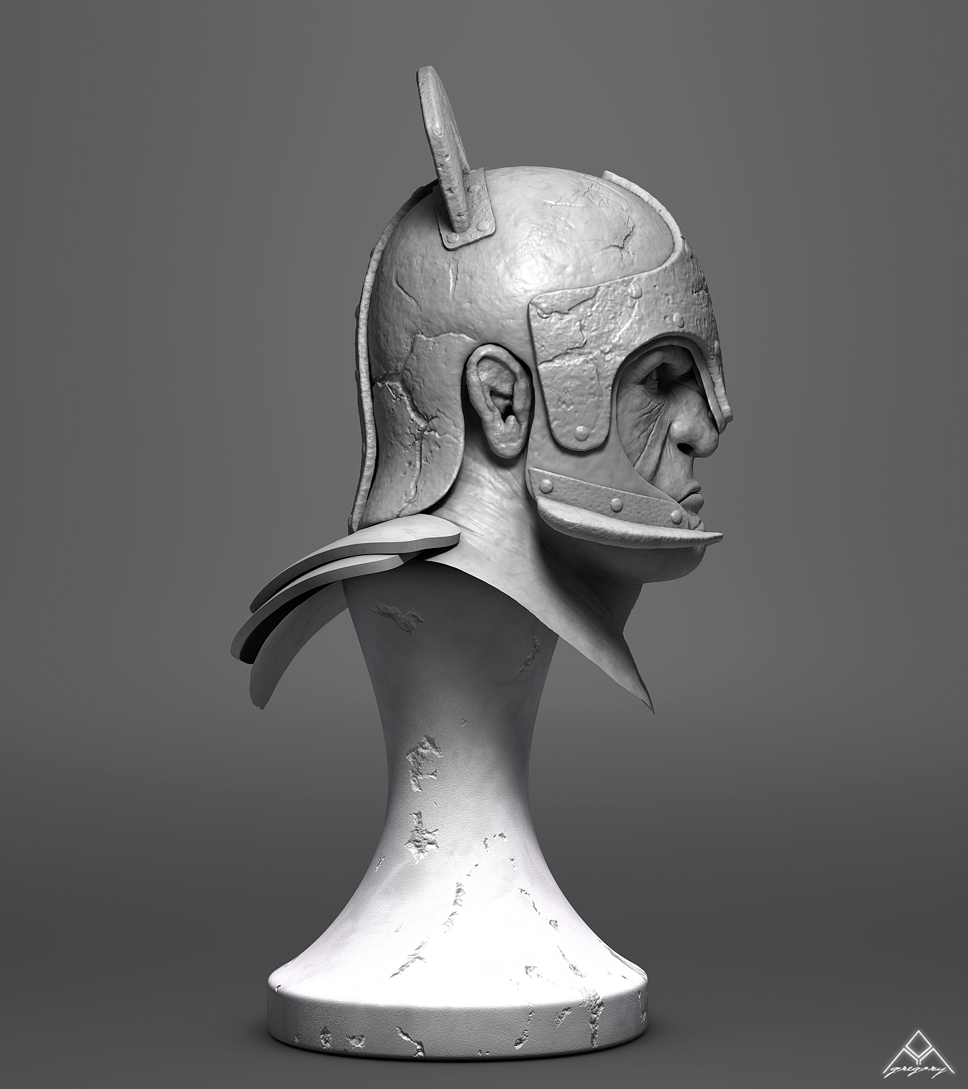 Buste Orc 3D Orc_mo17