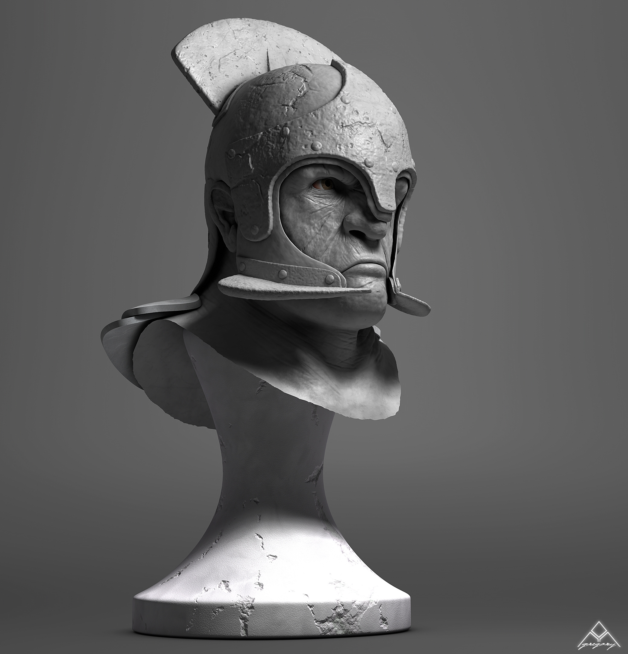 Buste Orc 3D Orc_mo18