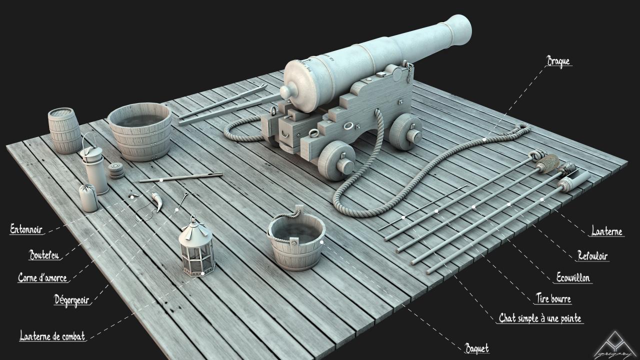 Canons vaisseau de 74 canons par Greg_3D Outill11