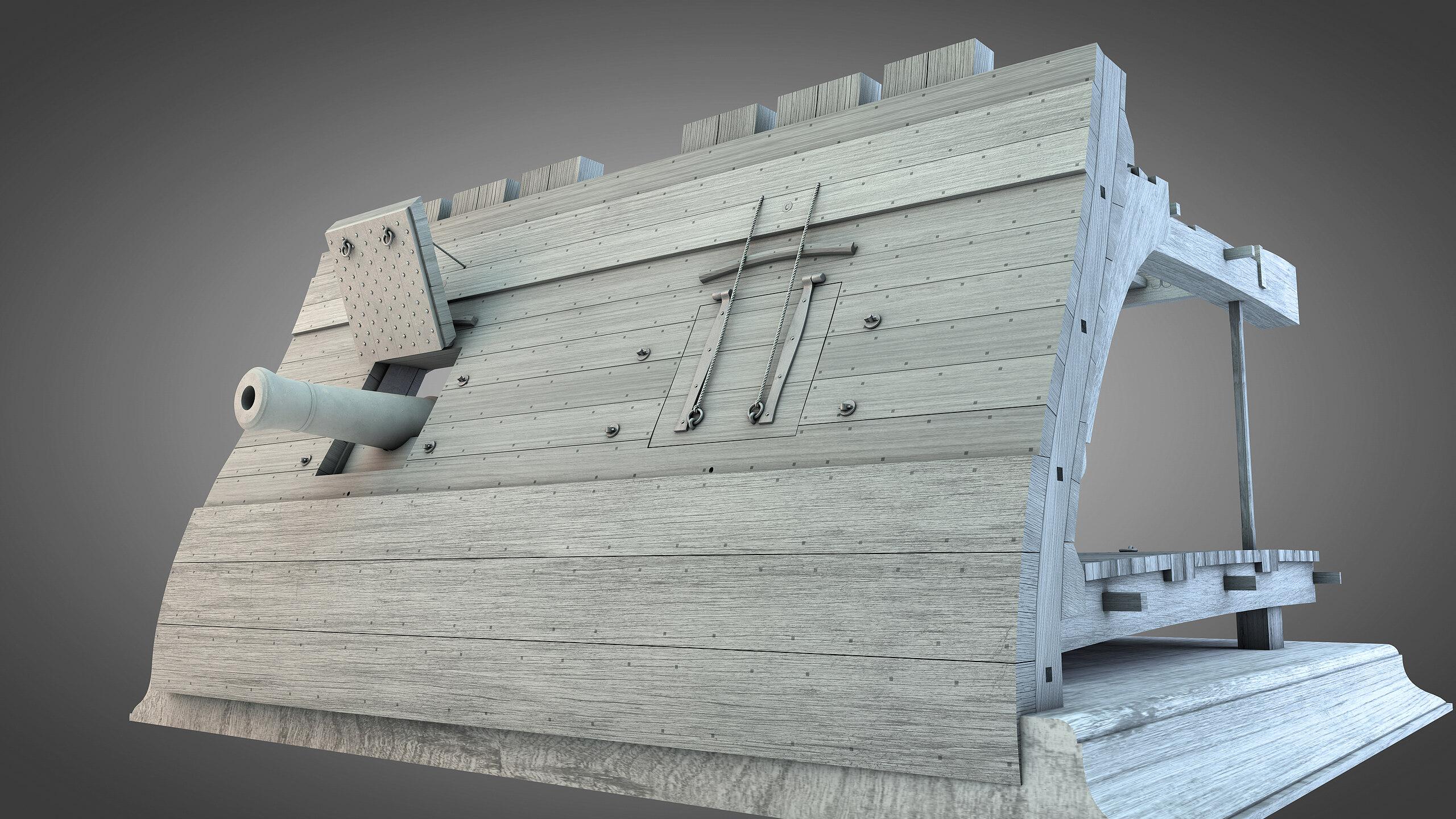 Canons vaisseau de 74 canons par Greg_3D - Page 8 Rendu103