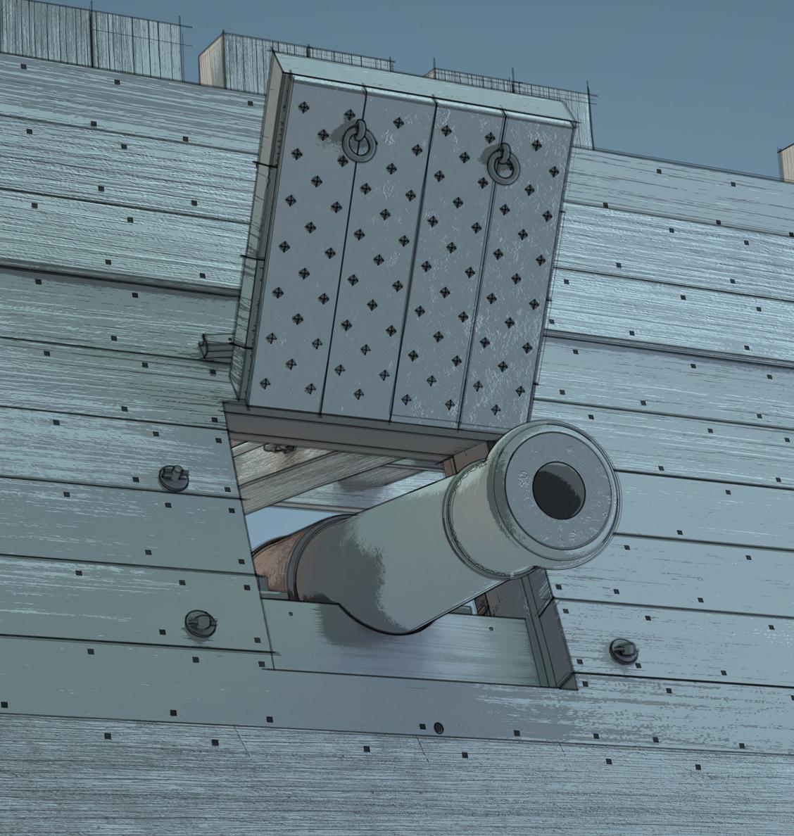 Canons de vaisseau 74 canons (Création 3D) par Greg_3D - Page 9 Rendu109