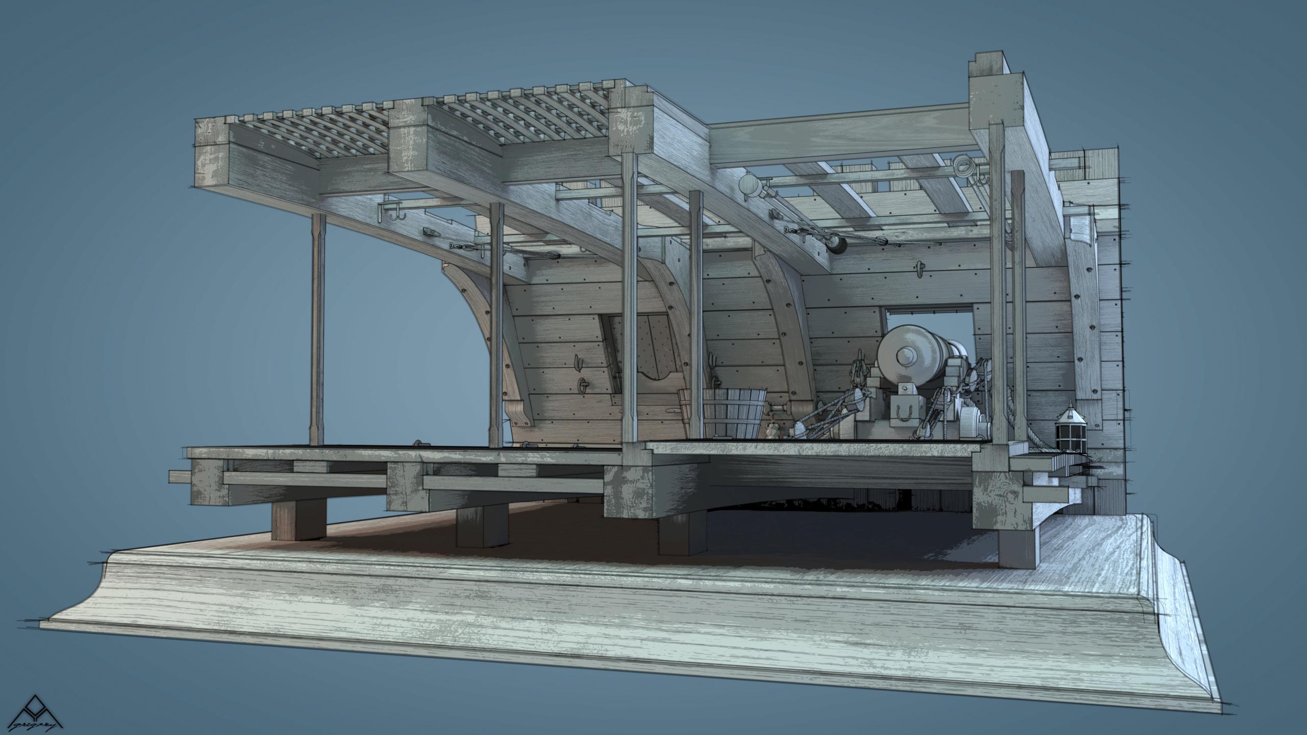 Canons de vaisseau 74 canons (Création 3D) par Greg_3D - Page 9 Rendu113