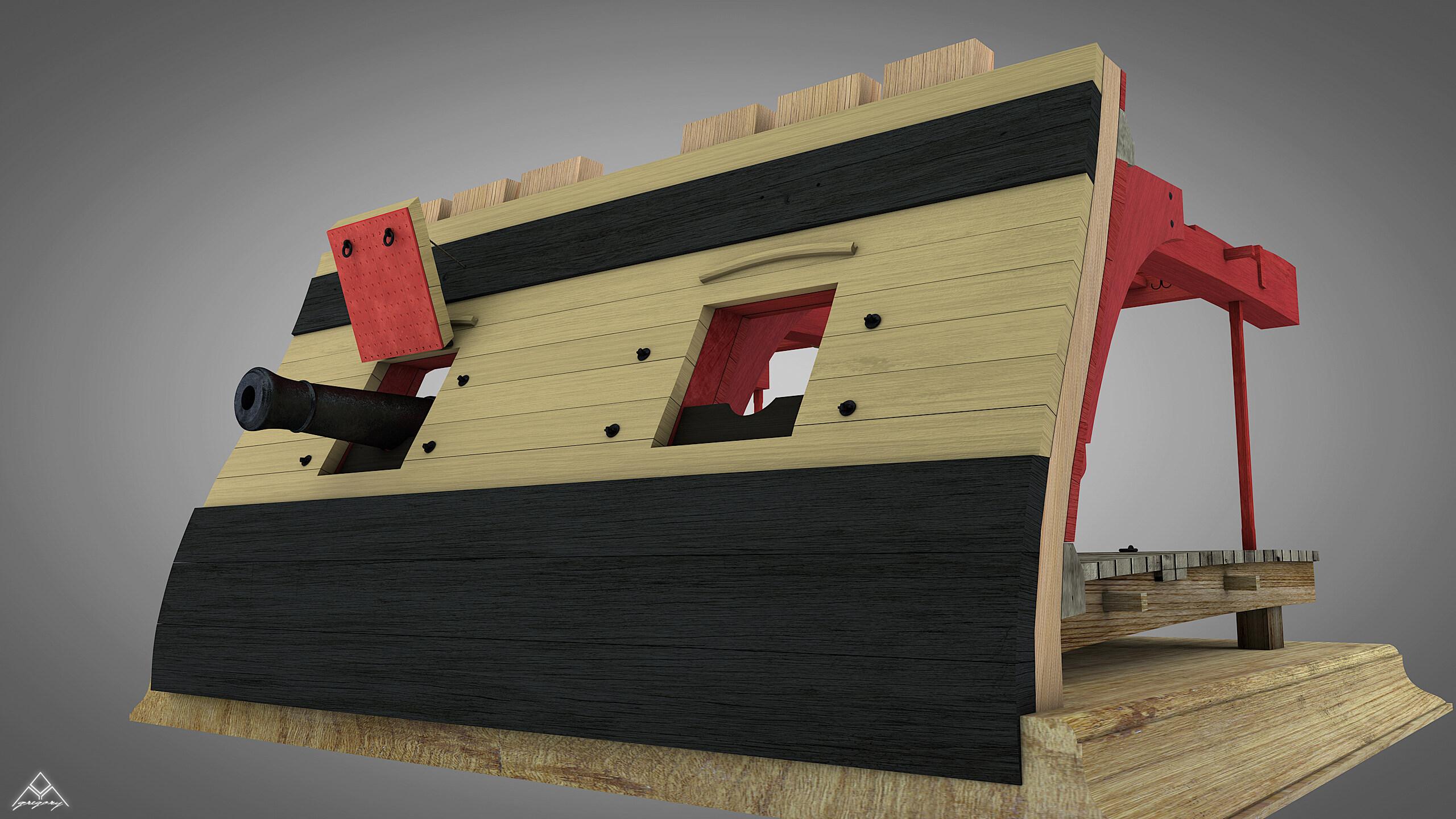 Canons de vaisseau 74 canons (Création 3D) par Greg_3D - Page 4 Rendu_47