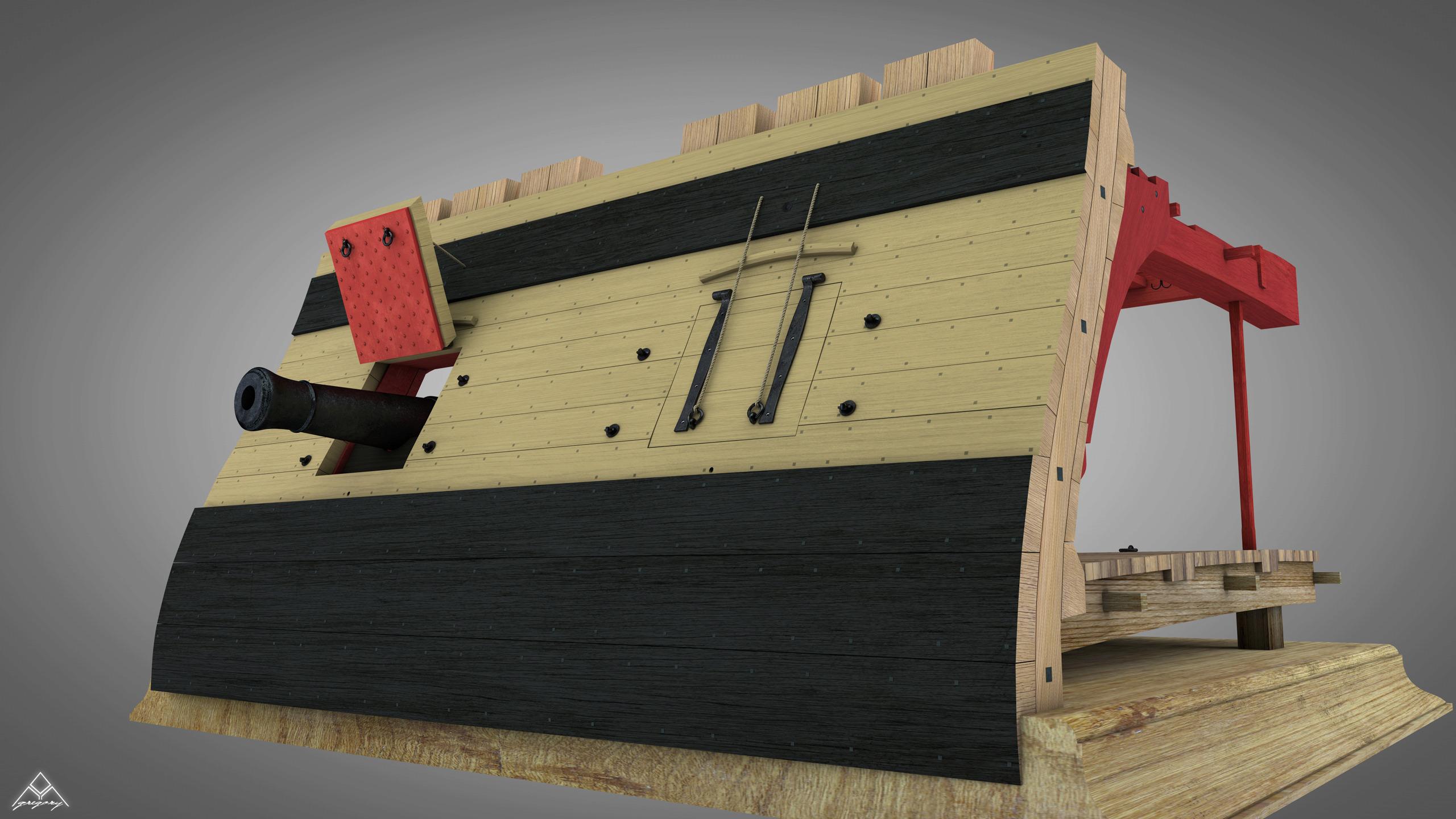 Canons de vaisseau 74 canons (Création 3D) par Greg_3D - Page 7 Rendu_80