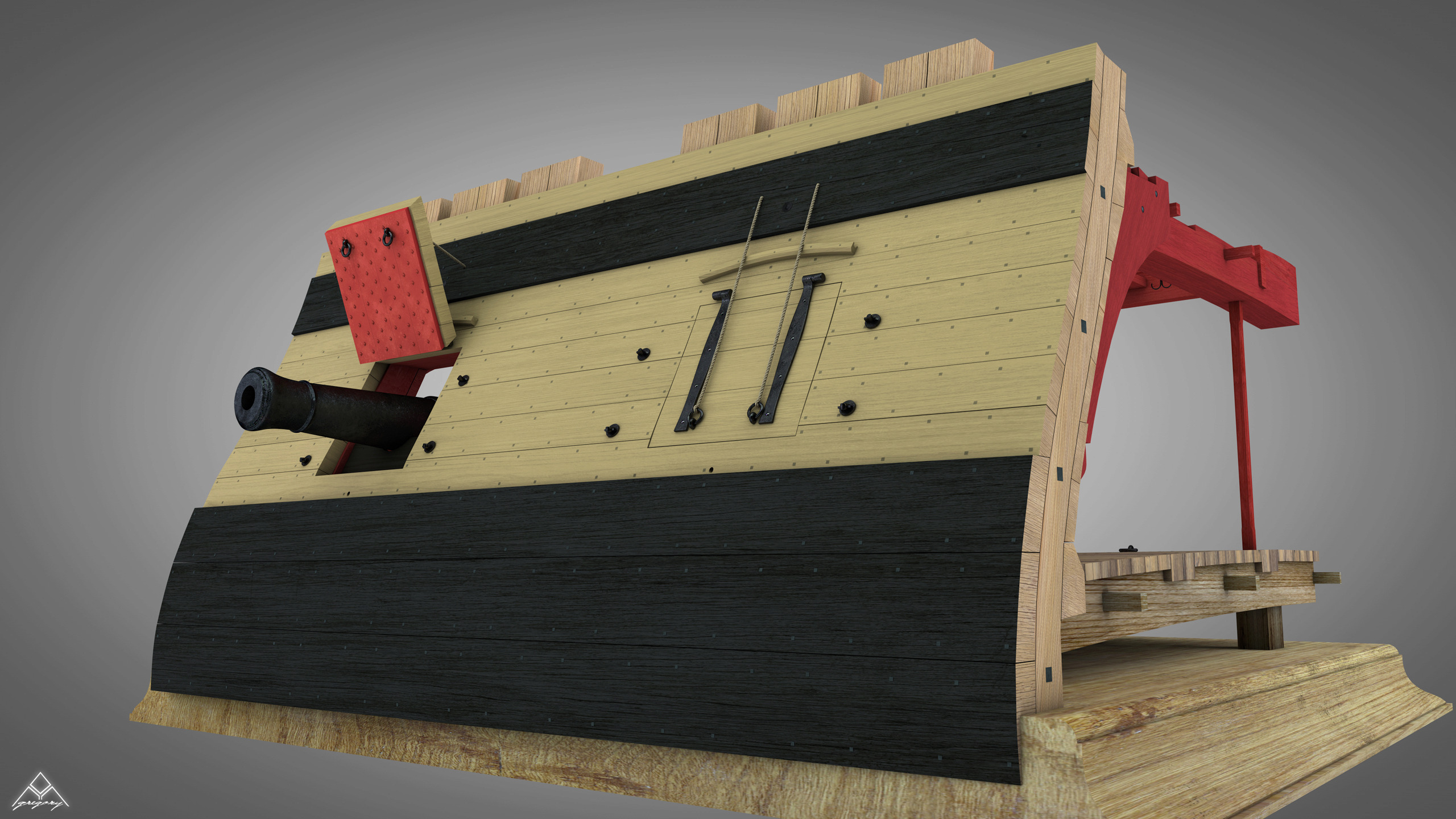Canons pour le vaisseau de 74 canons - Page 12 Rendu_83