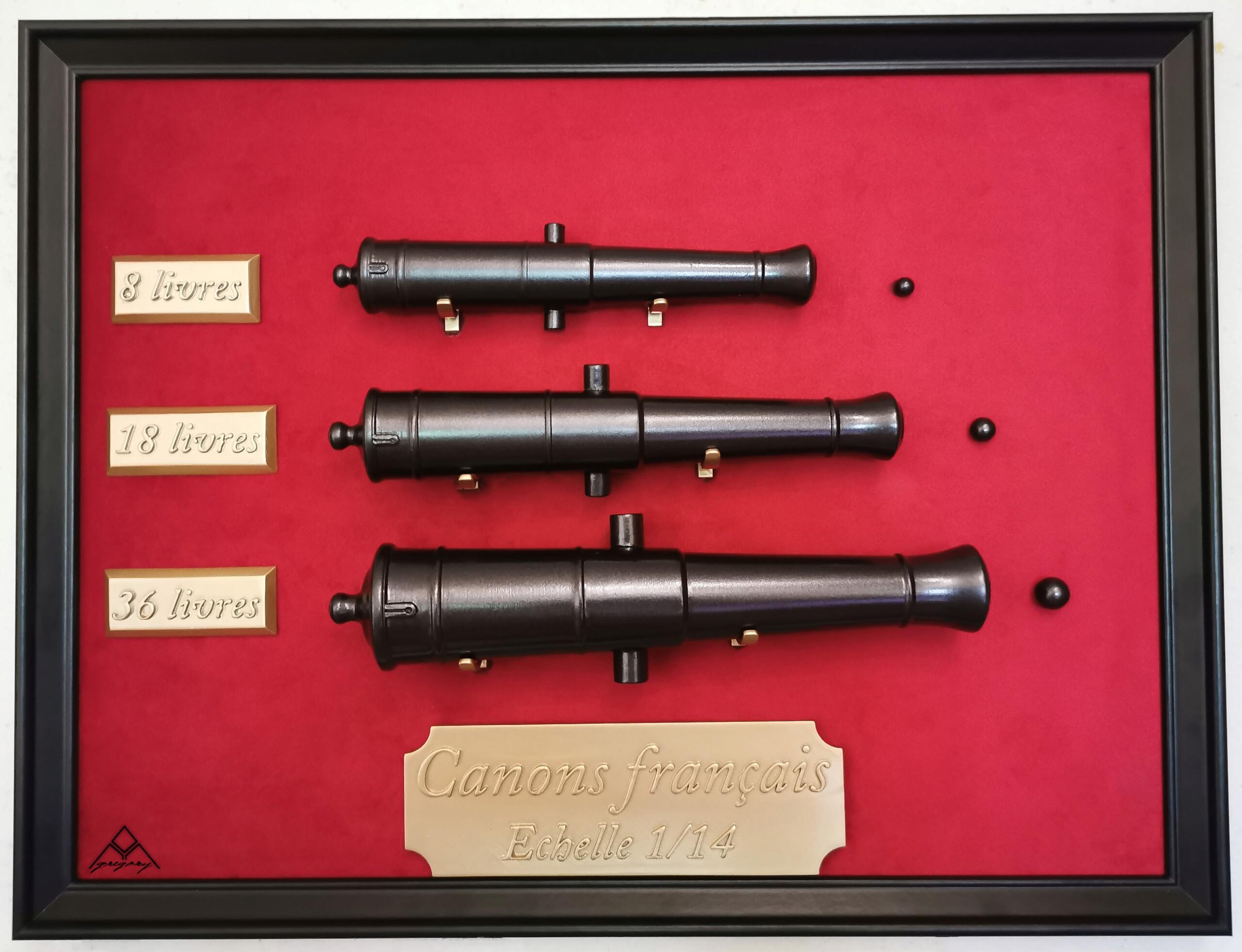 Canons 36, 18 et 8 livres 1/14eme Tablea12