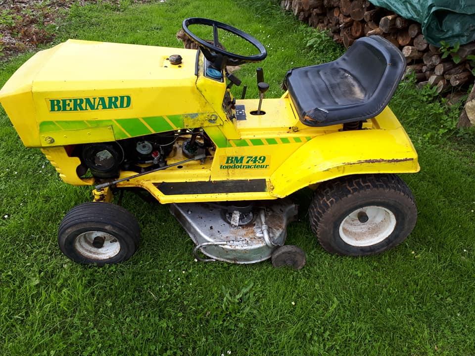 Tracteur tondeuse Bernard BM749 pour pieces 35346510