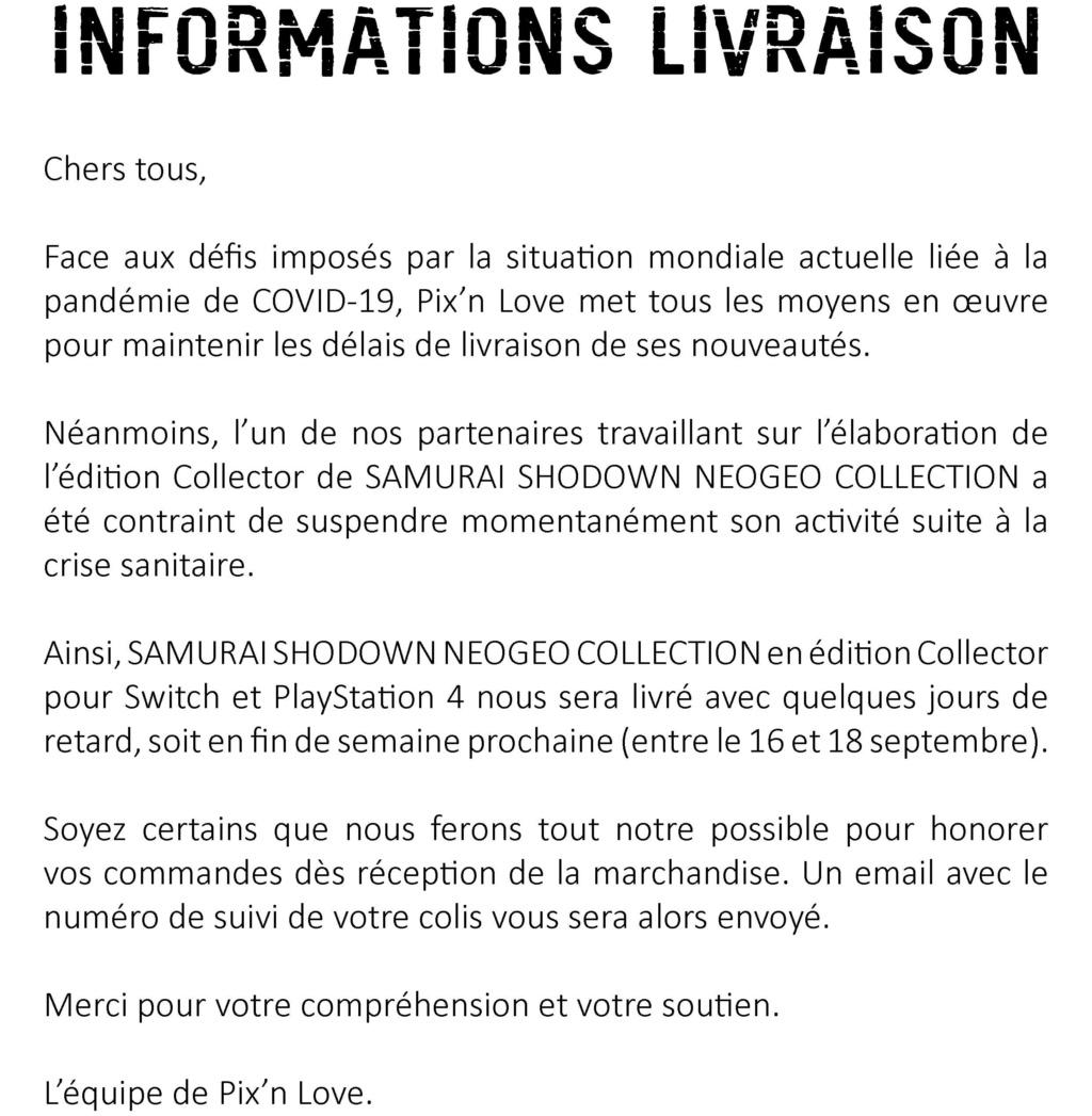 PIX'NLOVE éditera SAMURAI SHODOWN NEOGEO COLLECTION sur PS4 et Switch - Page 4 Noname10