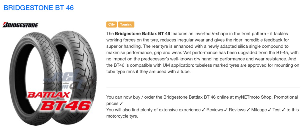 NEW Bridgestone Battlax BT 46 ! 42e6ea10