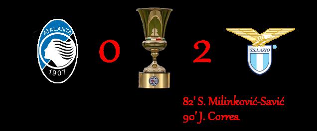 [RISULTATI] Lotteria | Finale - Coppa Italia | Atalanta 0-2 Lazio 1-213