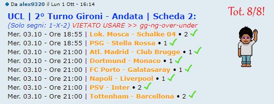 [RISULTATI] 2° Turno Gironi - Andata | UCL & UEL | Vincitori Alex311