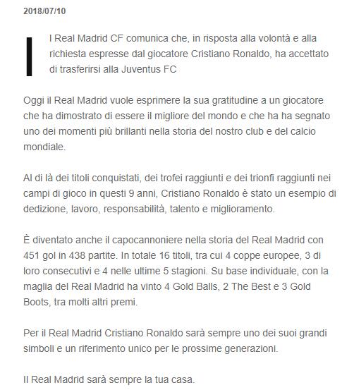 UFFICIALE: Cristiano Ronaldo alla Juventus! Comuni10