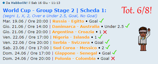 [RISULTATI] FIFA World Cup 2018 | Group Stage 2 | Vincitori! - Pagina 2 Habbo10