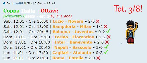 [RISULTATI] Ottavi di Finale   Coppa Italia + Altro   Vincitori - Pagina 2 Luis11