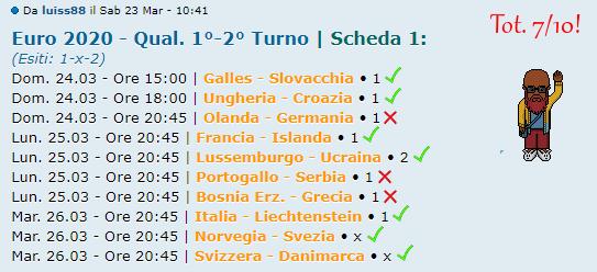 [RISULTATI] Qualificazioni 1°-2° Turno   UEFA Euro 2020   Vincitori - Pagina 2 Luis13