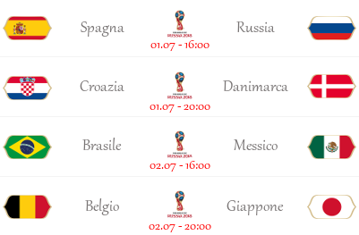 [PRONOSTICI] FIFA World Cup 2018 | Ottavi di Finale Ottavi12