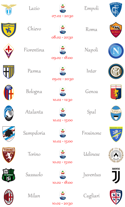 [PRONOSTICI] 23ª Giornata di Serie A + Altre Partite - Pagina 4 Seriea38