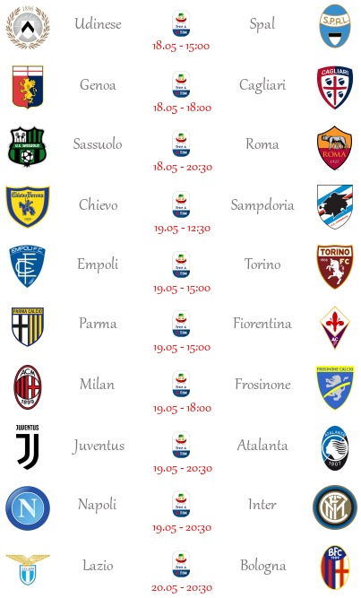 [PRONOSTICI] 37ª Giornata di Serie A + Altre Partite - Pagina 2 Seriea69