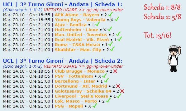 [RISULTATI] 3° Turno Gironi - Andata | UCL & UEL | Vincitori Uclc10