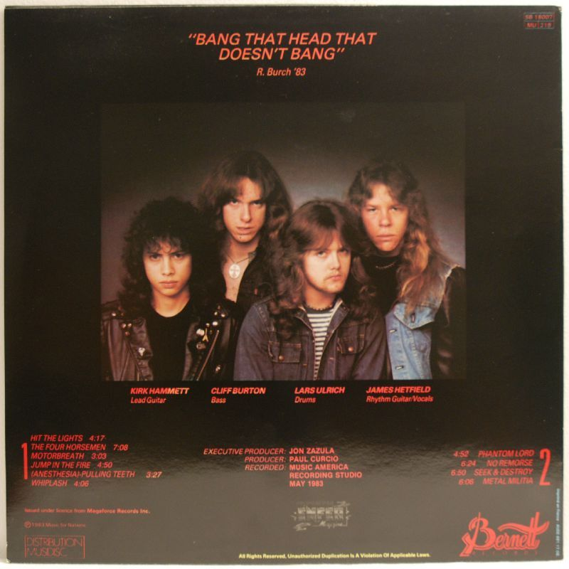 Metallica Kill em all 1983 76494410