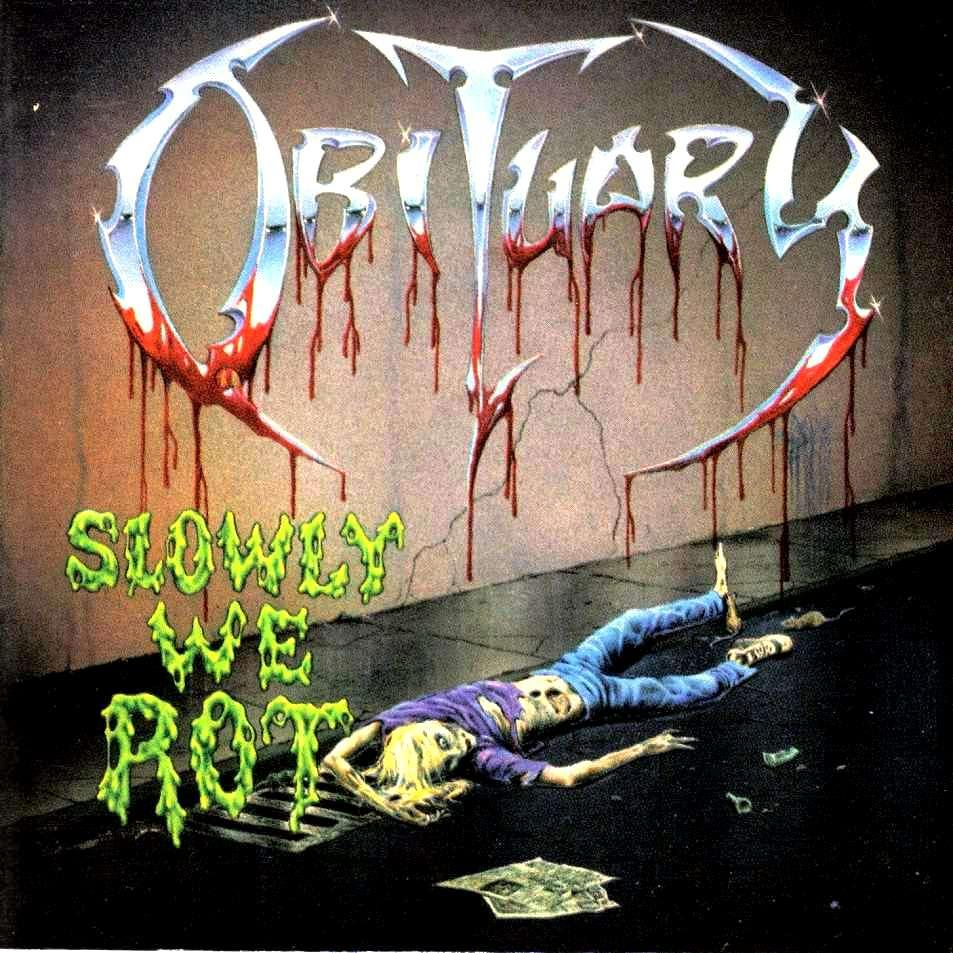 Obituary - Slowly we rot (1989) Obitua10
