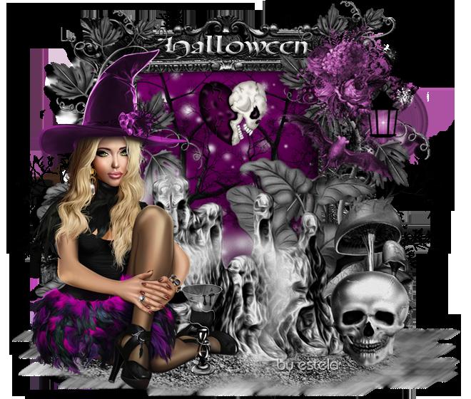 14 -TARJETAS HALLOWEEN - Página 34 Witchc13