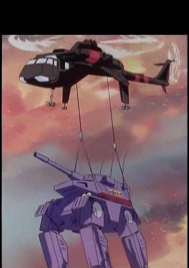 El transporte de BattleMechs en la superficie del planeta Dougra10