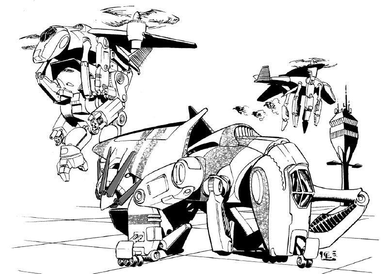 El transporte de BattleMechs en la superficie del planeta Tonbo10