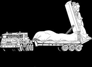 El transporte de BattleMechs en la superficie del planeta Traile10