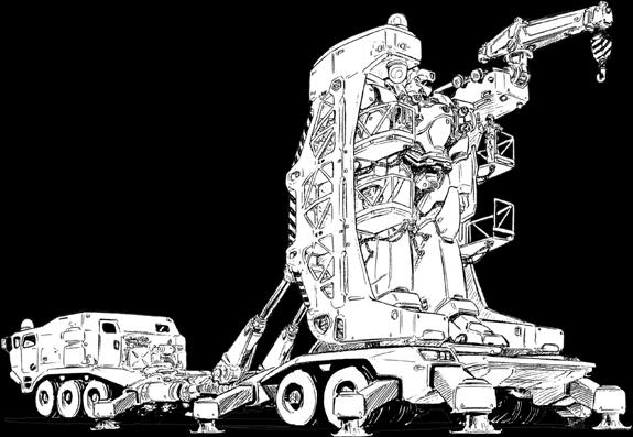 El transporte de BattleMechs en la superficie del planeta Traile11