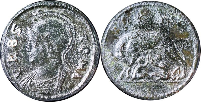 Médaillon de bronze URBS ROMA Medail10