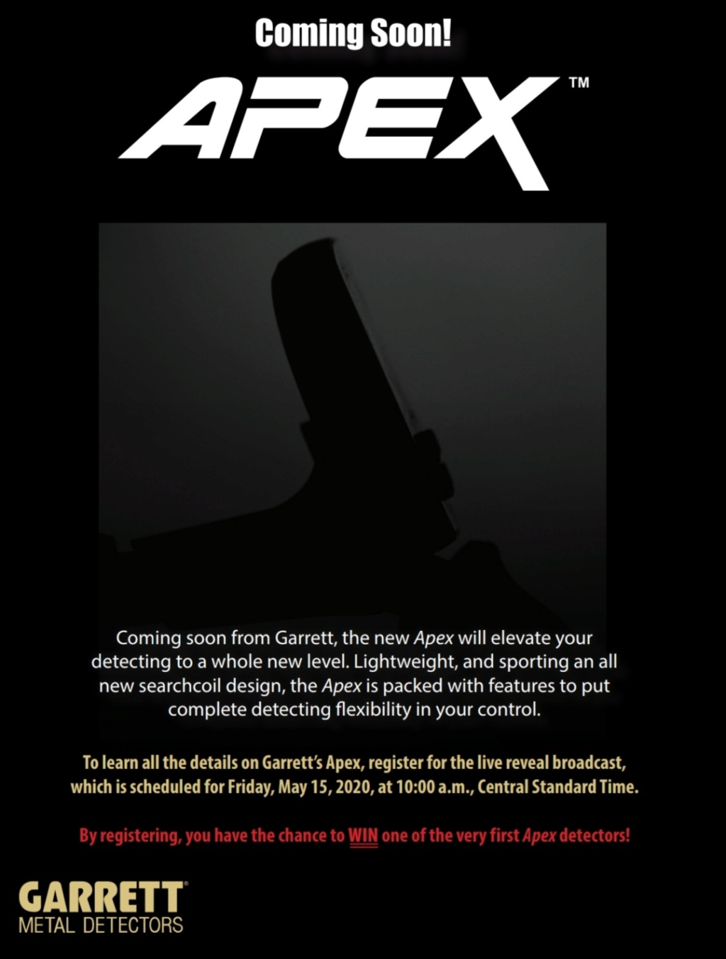 GARRETT APEX - нов модел металотърсач 2020 Screen16
