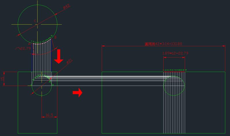 [問題]鈑金圓柱體側邊鑽孔如何展開 Saaoys10